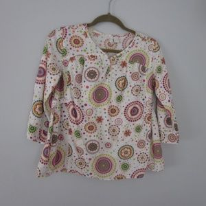 Colorful Fun 100% Cotton Girls XL Top with Tank